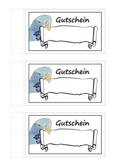 """DIY ♥ Gutschein Vorlagen kostenlos zum Ausdrucken ♥ Basteln mit dem Bastelmagazin """"Alles rund ums Basteln"""""""