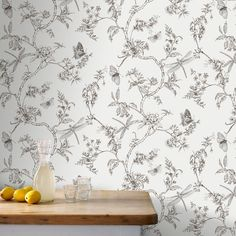 Nature Trail White Mica Wallpaper, , large