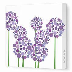 Allium Flowers Canvas Wall Art