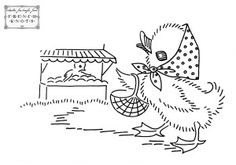 duck_market All the patterns are free! Click on the image to bring up the full size and then save to your computer. Once you've printed them they can be traced to your fabric or you can use a transfer pencil to trace the lines on the paper and then iron on to fabric as you would any transfer.