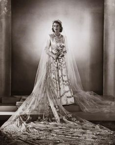 Princess Elizabeth wedding portrait, 1947.