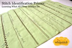 https://flic.kr/s/aHsjrKwwhf | Stitch Identification Primer | A quick slideshow to help you figure out how to identify different sewing machine stitches and how & where to use them! #Archiv #archivieren #Nähjournal