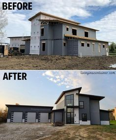 Sea Container Homes, Building A Container Home, Container House Design, Shipping Container Home Designs, Shipping Container House Plans, Shipping Containers, Container Architecture, Modern Architecture House, Tiny House Plans