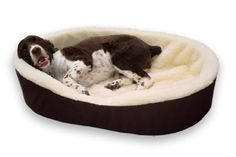 Made in USA. Dog Bed King Cuddler Large Brown/Imitation Lambswool. Size: 33x23x7'. Removable Washable Cover. Manufactured and Ships From Illinois. -- Be sure to check out this awesome product.