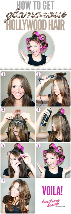 How To Get Glam Hollywood Hair