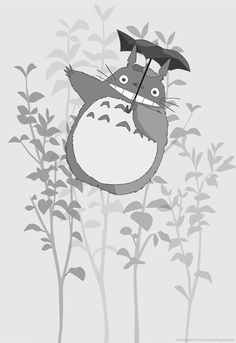 Totoro, one of mine, and the Little General's favorite movies!