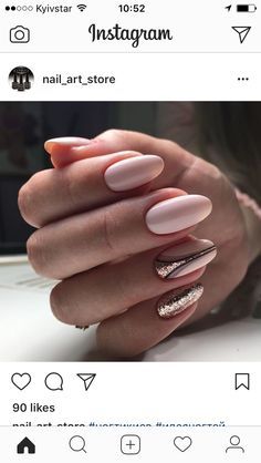 Nail art ideas: an artistic journey Fabulous Nails, Gorgeous Nails, Pretty Nails, Hair And Nails, My Nails, Gelish Nails, Chic Nails, Instagram Nails, Luxury Nails