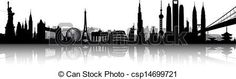 International skyline vector - csp14699721