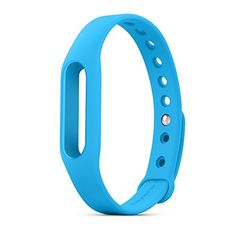 Cool Xiaomi Mi Band Wristband Wearable Xiaomi Wrist Strap TPSiV Accessories Band Belt for Miband (Blue)