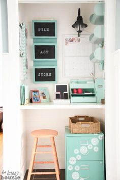 Getting Organized with a Command Center in a Closet