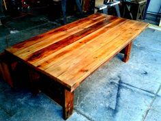 Trestle Reclaimed dining table + Bench