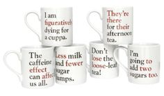 Grammar Grumble Mugs from The Literary Gift Company - 2013 Christmas Gift Guide