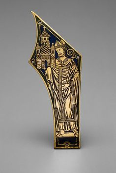 Germany, Lower Rhine, Cologne, or Belgium, Meuse River Valley  Circle of Nicholas of Verdun (French, active 1181-1205)    Plaque with Bishop, 1180/1200