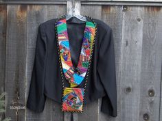 Cool idea--quilted lapels instead of whole jacket.   Crazy Quilted Tuxedo Jacket by wichcraft, via Flickr