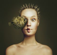 flora borsi combines human + animal features into one