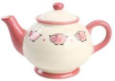Pink Piggy Teapot