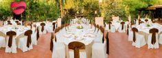 Es un lugar exclusivo con amplios jardines y salones de boda para una celebración memorable