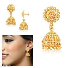 Earrings & Studs Designer Alloy Jhumki Material: Alloy Size: Free Size Plating: 22Kt Gold Plated Description: It Has 1 Pair Of Jhumki Work: Embellished Country of Origin: India Sizes Available: Free Size   Catalog Rating: ★4.2 (467)  Catalog Name: Diva Designer Alloy Jhumkis Vol 1 CatalogID_212736 C77-SC1091 Code: 561-1633620-543