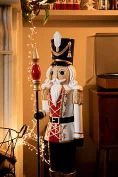We are totally nuts about this gorgeous nutcracker! Diy Supplies, Christmas 2019, Garden Projects, Festive, Seasons, Times, Holiday Decor, Red, Inspiration