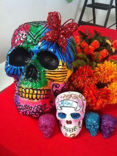 Crafty Chica's sugar skulls for Dia delos Muertos