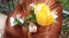 Floral hair clips, clothes pin floral decoration beautiful hair and clothes. by shiraproducts on Etsy
