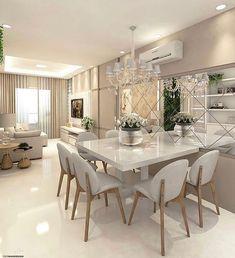 Cute modern kitchen design on a budget 38 Interior Design Kitchen, Interior Design Living Room, Living Room Decor, Interior Livingroom, Elegant Dining Room, Dining Room Design, Dining Rooms, Dining Table, Dinner Room