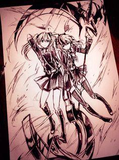 Mitsuba and Shinoa by Dessa