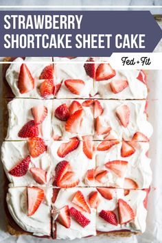 Strawberry Shortcake Sheet Cake Moist and buttery vanilla cake is topped with homemade strawberry sauce, whipped cream, and fresh berries for the ultimate gluten free strawberry shortcake! Strawberry Shortcake Recipes, Strawberry Sauce, Strawberry Recipes, Strawberry Cakes, Gluten Free Vanilla Cake, Gluten Free Desserts, Vanilla Sheet Cakes, Fed And Fit, Bbq