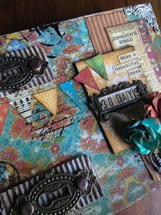 Altered Art Journal Bohemian Bazaar, Denise Johnson