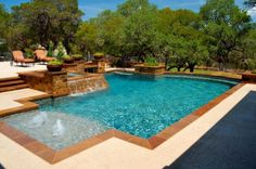 Beautiful Vanishing Edge, Freeform And Geometric Swimming Pool Designs By Cody Pools,  A Pool Builder In Austin, Dallas/Ft.