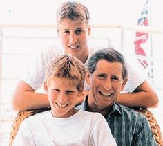 Prince Harry,Prince William,and Prince Charles