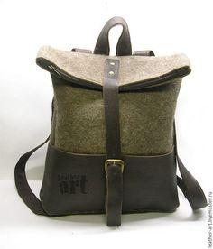 Рюкзаки ручной работы. Ярмарка Мастеров - ручная работа. Купить Рюкзак войлочный женский Антиморозный. Handmade. Однотонный, сумка брезентовая