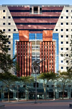 Postmodern architecture: the Portland Municipal Services Building, Oregon, by Michael Graves.
