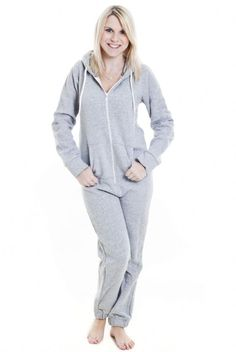 10cc8c5d80 A plain grey hooded adult onesie with white detailing suitable for both men  and women Smaller sizes also perfect for school teams and teens This grey