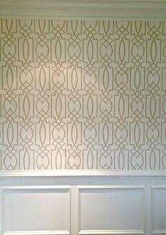 Dining room wallpaper. I am in love! Stephanie Kraus Designs, LLC