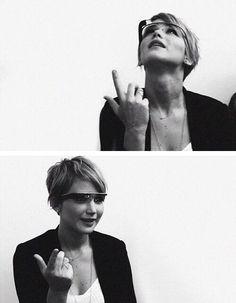 Jennifer Lawrence and google glass