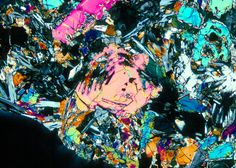 Union College Geology Department, Kurt Hollocher, Petrology course, lunar rocks and lunar thin sections, thin section images, low-titanium mare basalt 12002