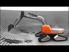 Doosan CX Eco Transformer, Concept Excavator, www.maskinia.se VERY COOL CONCEPT.