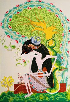 Hermit Arjuna - acrylic color on canvas, 86 x 138 cm Acrylic Colors, Ancient Art, Canvas, Artwork, Paintings, Fictional Characters, Flower, Tela, Work Of Art