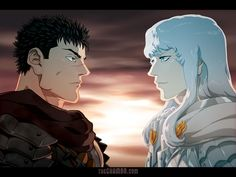BERSERK by theCHAMBA on DeviantArt | Anime- Berserk | Character- Griffith & Guts | Awesome anime with some awesome characters!