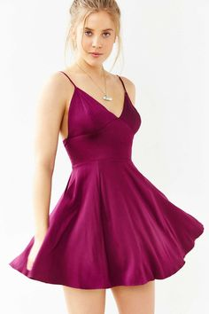I love the color Silence + Noise Buffy Sateen Fit + Flare Dress