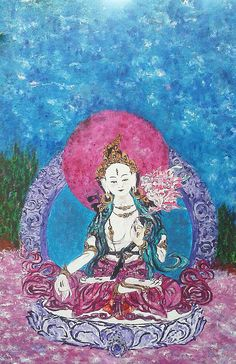 Sita Tara - Acrílico sobre tabla - 100 x 65 cm - Colección particular - Amgros Arte