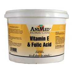 AniMed Vitamin E and Folic Acid Supplement for Horses 5Pound -- Continue to the product at the image link.Note:It is affiliate link to Amazon.