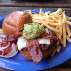 California Burger at Wipeout Bar & Grill