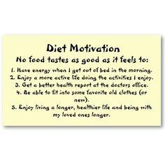 Diet Motivation.