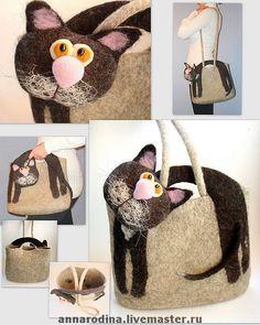 Купить СумКотэ - гибрид кота и сумки - кот, сумка, смешной, женская сумка, Кошки, кошка