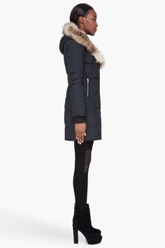 Mackage for Women Collection Fur Trim, Canada Goose Jackets, Hoods, Winter Jackets, Coat, Stuff To Buy, Shopping, Collection, Black