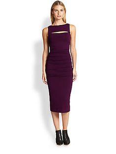 Donna Karan Cut-Out Jersey Dress