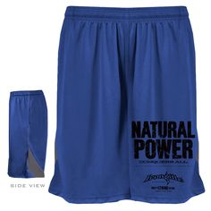 Natural Power Conquers All - Powerlifting Gym Shorts  #ironville #cleanlifting #drugfree #gymshorts #powerlifting