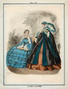 In the Swan's Shadow: La Belle Assemblee, May 1861.  Civil War Era Fashion Plate